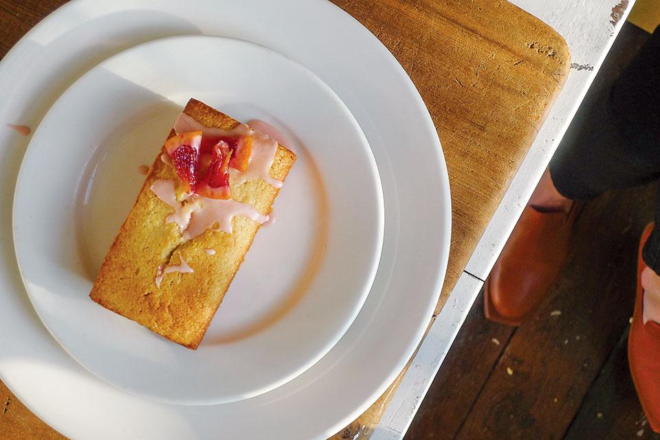St. Anne the Tart blood orange pound cake with blood orange glaze (photo by Ben Callahan)
