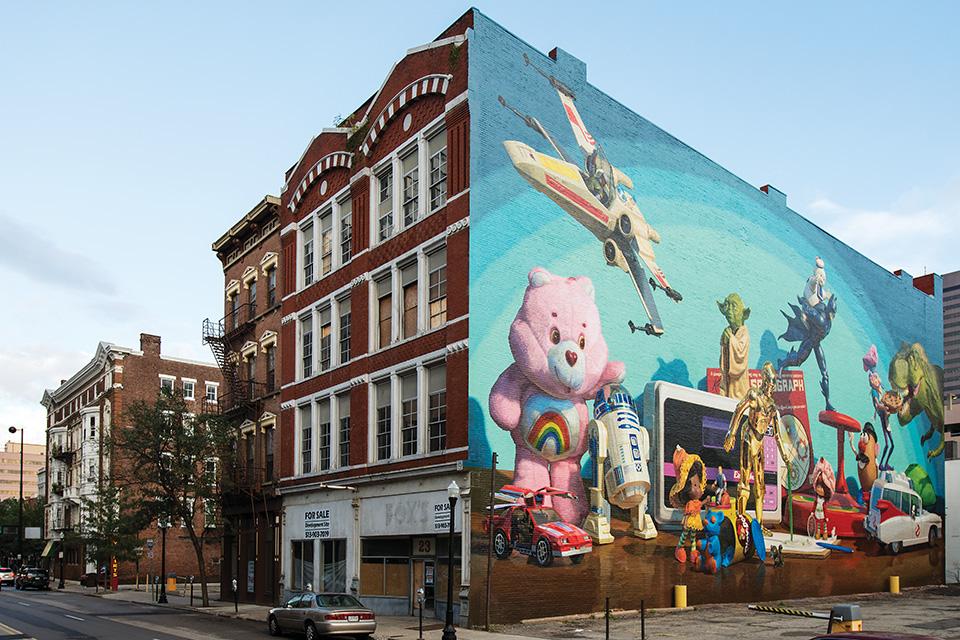 Cincinnati Toy Heritage mural (photo by J. Miles Wolf)