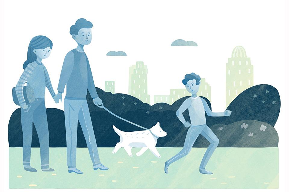 Enjoy Smale Riverfront Park (illustration by Diana Bolton)