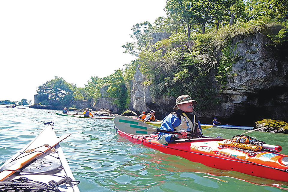 South Bass Island kayaking (photo courtesy of South Bass Island Kayak Rendezvous)
