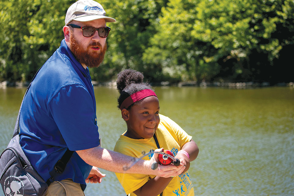 Fishing at the Kids Outdoor Adventure Expo (photo courtesy of Great Parks of Hamilton County)