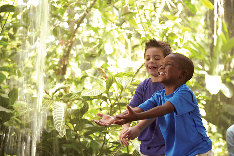 Kids playing at the Cleveland Botanical Garden (photo courtesy of Cleveland Botanical Garden)