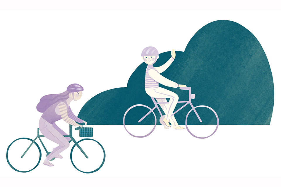 Simon Kenton Bike Trail (illustration by Diana Bolton)