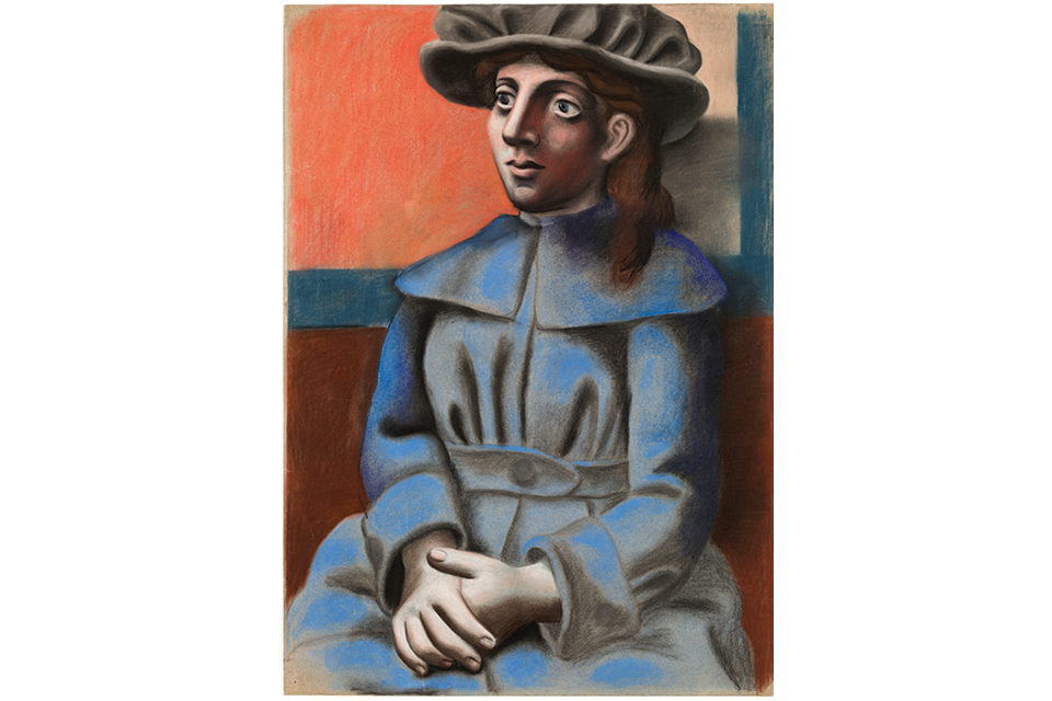 """Pablo Picasso's """"Girl in a Hat with Her Hands Clasped"""""""