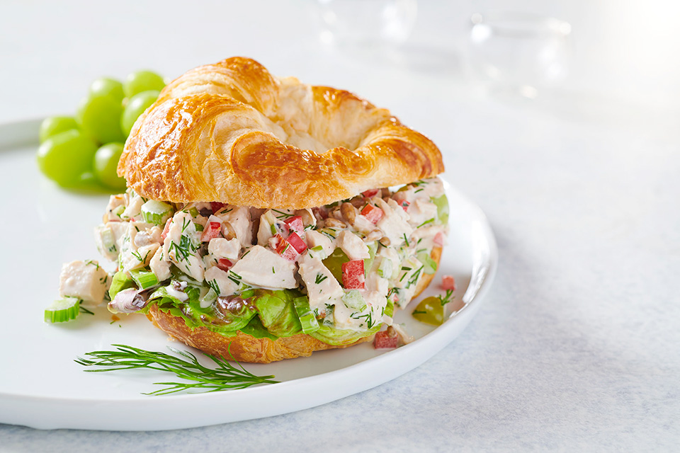 Confetti Chicken Salad Sandwich (photo by Megann Galehouse, styling by Betty Karlslake)