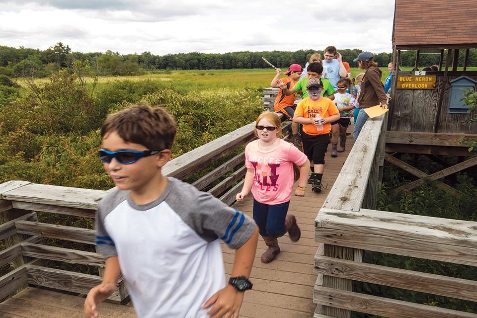 Audubon Nature Center children running (photo by Ed Bernik)