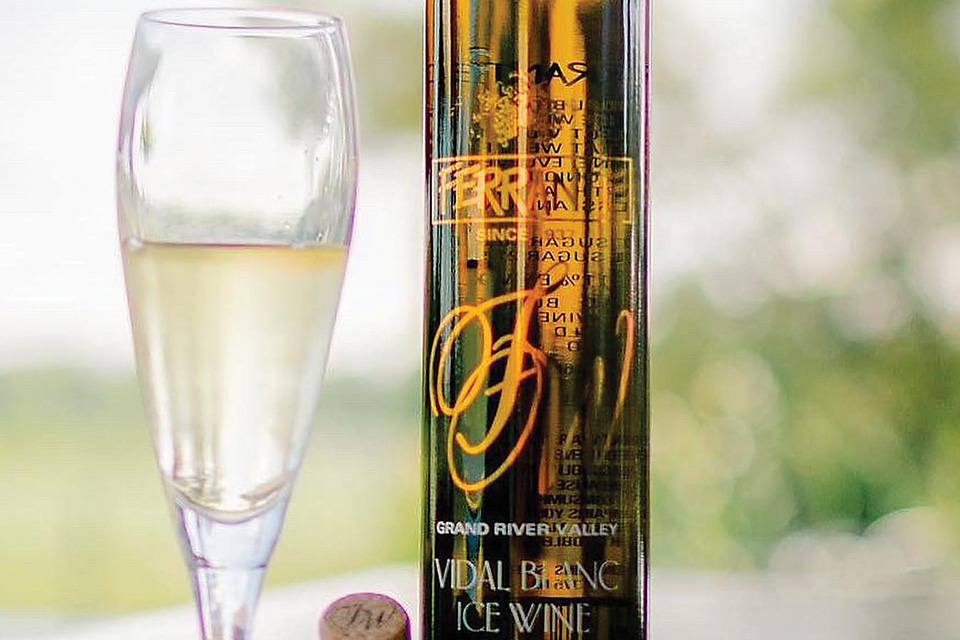 Ferrante Winery's Vidal Blanc (photo courtesy of Ferrante Winery)