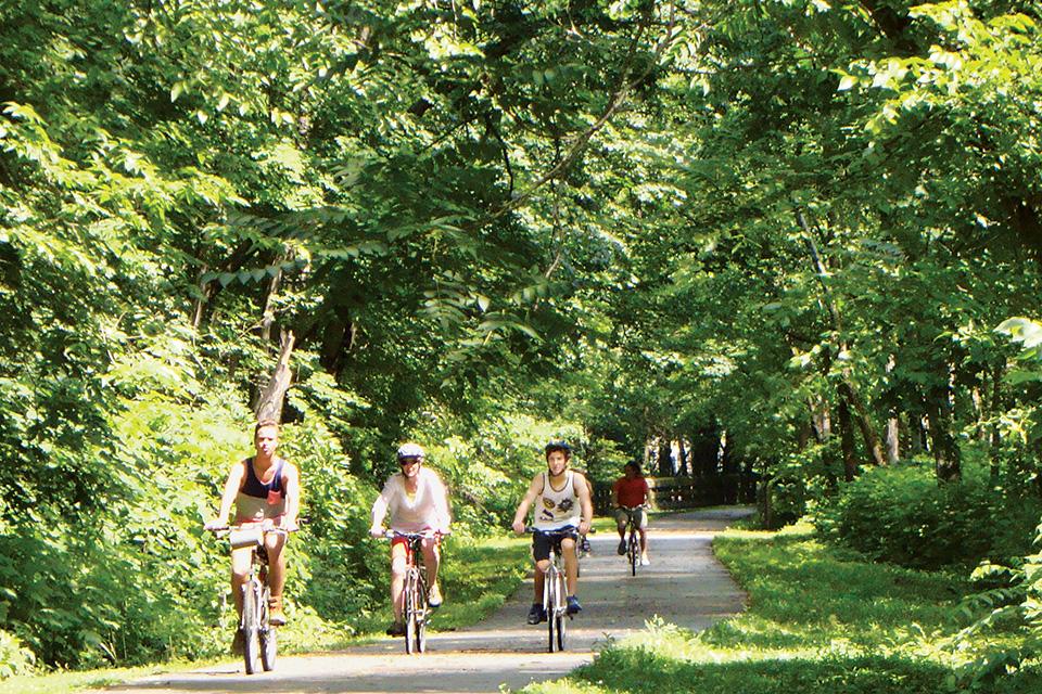 Little Miami Scenic Trail bikers (photo by Rachael Jirousek)