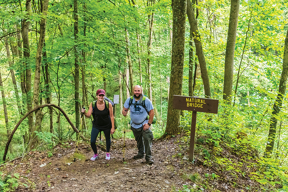 Wayne National Forest couple hiking (photo by Bruce Wunderlich)