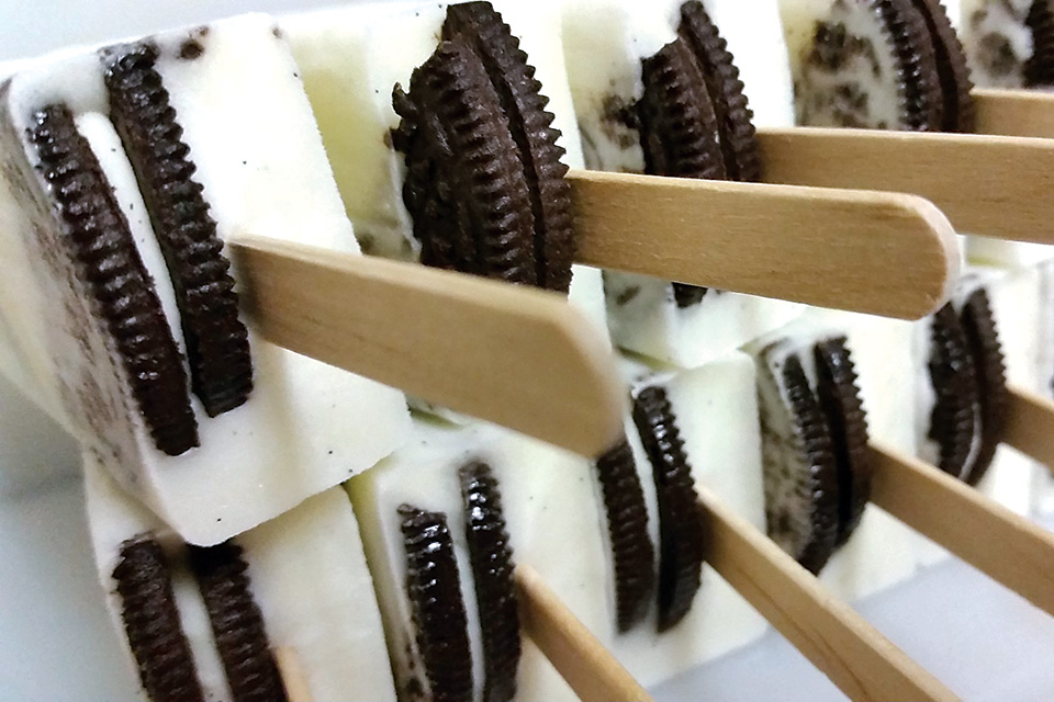 Cookies and cream popsicles (courtesy of Sweet P's Handcrafted Ice Pops)