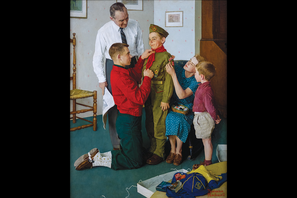 "Norman Rockwell's ""Mighty Proud"""