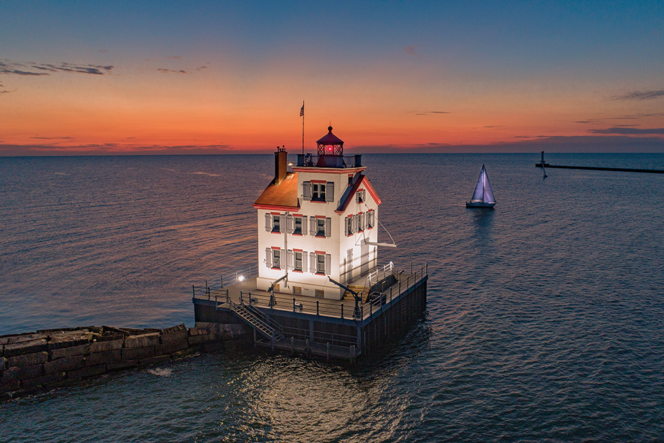 Lorain Lighthouse (photo courtesy of Aerial Agents)