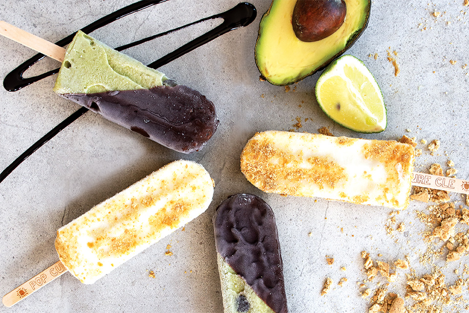 Avocado mint chip and key lime pie popsicles (photo by Stephanie Park)
