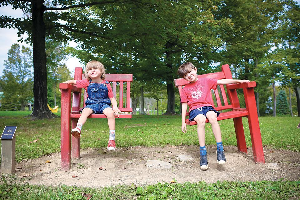 Kids at Pyramid Hill Sculpture Park (photo courtesy of Cincinnati Parent)