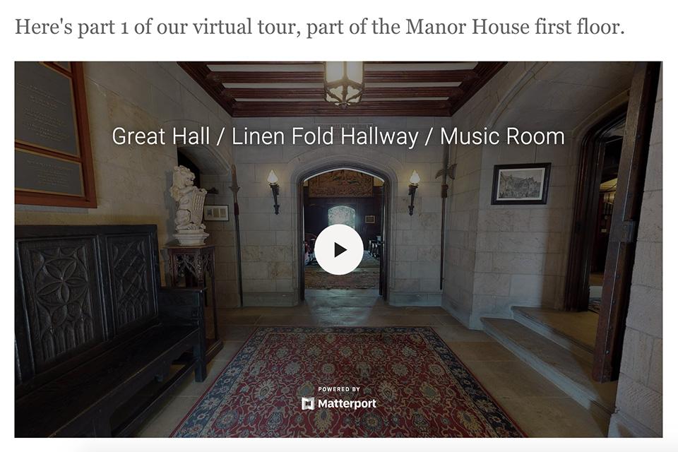 Stan Hywet Hall & Gardens Virtual Tour