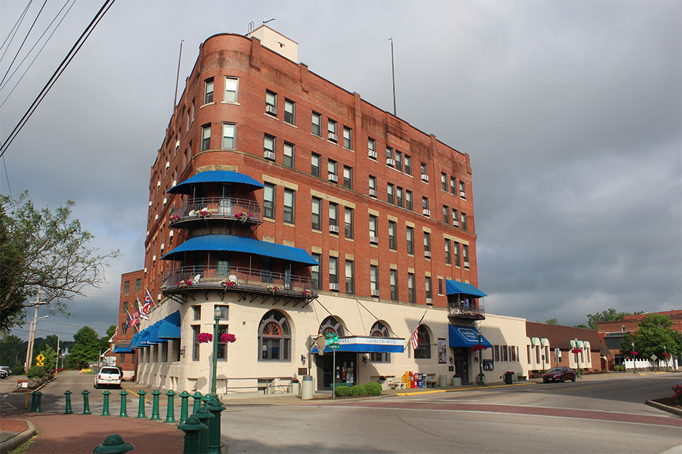 The historic Lafayette Hotel