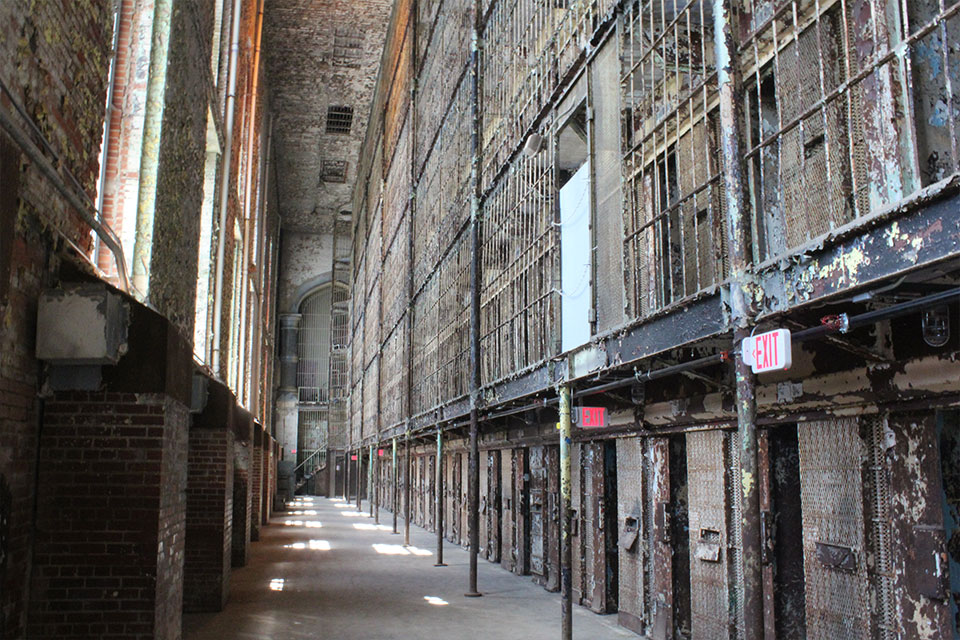 Prison cells at the Ohio State Reformatory
