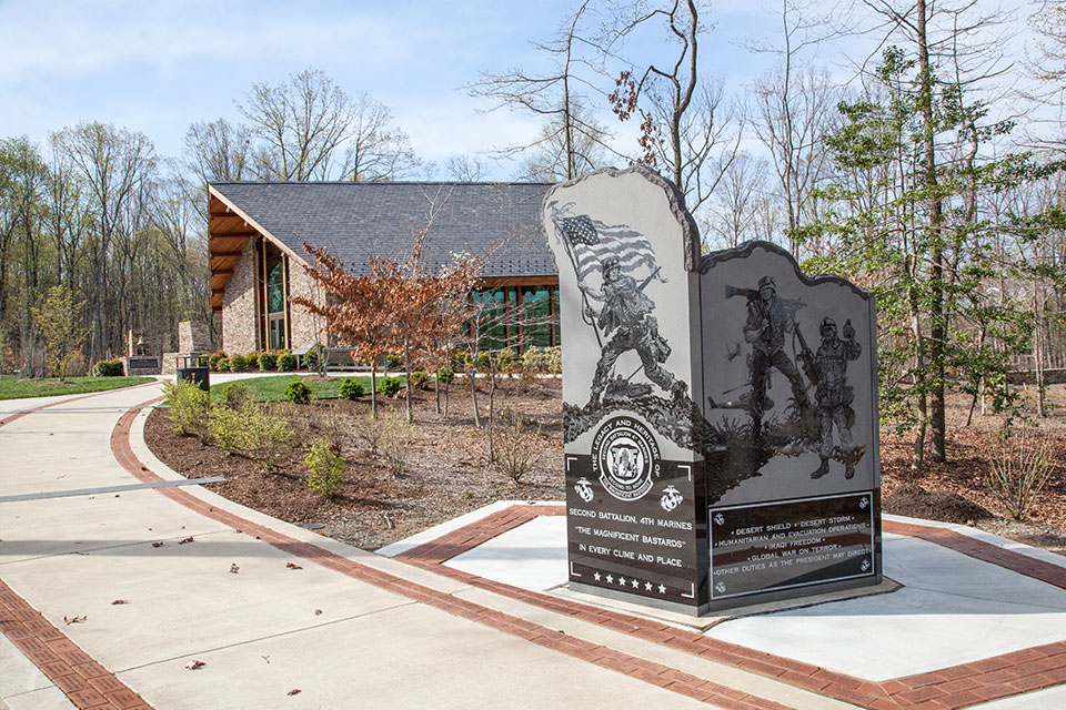 The 2d Battalion, 4th Marines (2/4) Monument in Triangle, Virginia