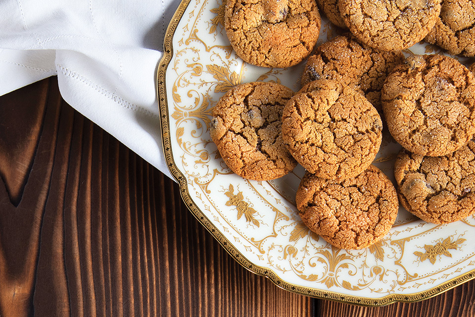 Williamsburg ginger cookies (photo and styling by Karin McKenna)