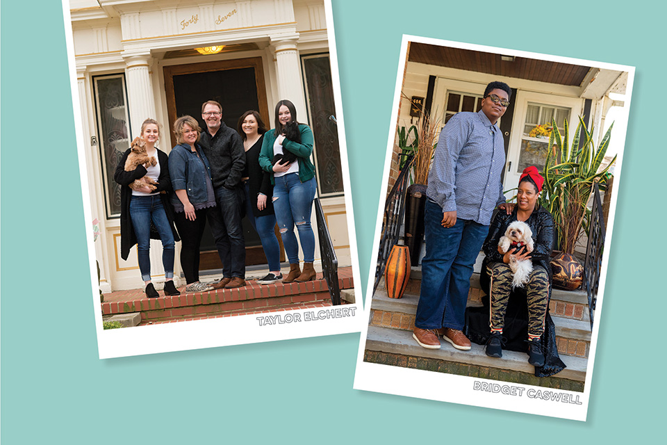 Family porch portraits (photos courtesy of Taylor Elchert and Bridget Caswell)