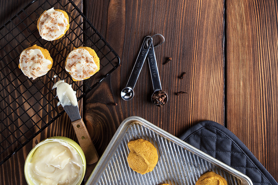 Pumpkin drop cookies (photo and styling by Karin McKenna)