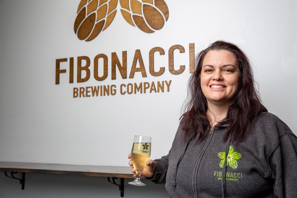Betty Bollas at Fibonacci Brewing Co. (photo by Matthew Allen)