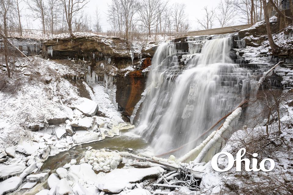 Brandywine Falls in winter (photo by Cody York)
