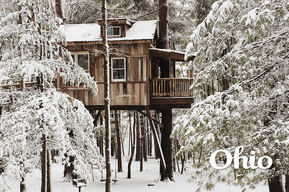 Mohican Treehouses in winter option two (photo by Rachael Jirousek)