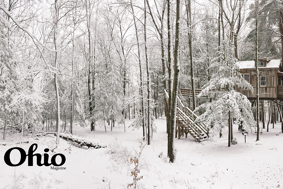 Mohican Treehouses in winter (photo by Rachael Jirousek)