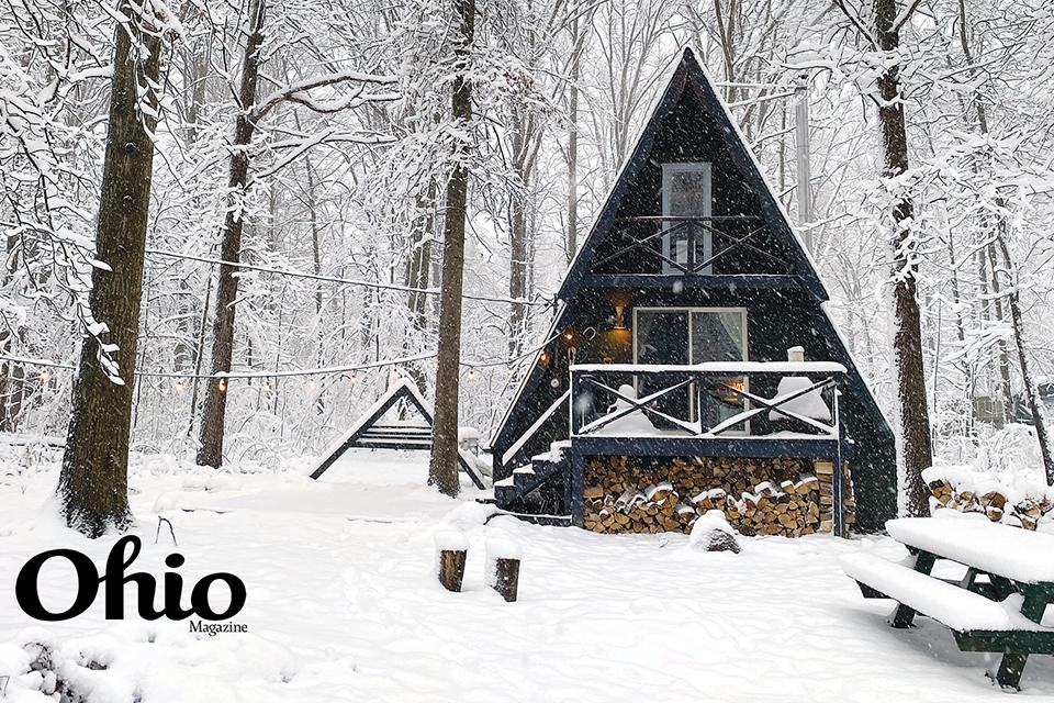 Triangle Cabin in winter (photo by Zoe Eloise White)