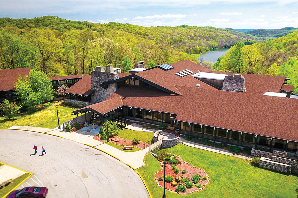 Shawnee State Park Lodge (photo courtesy of the Ohio Department of Natural Resources)
