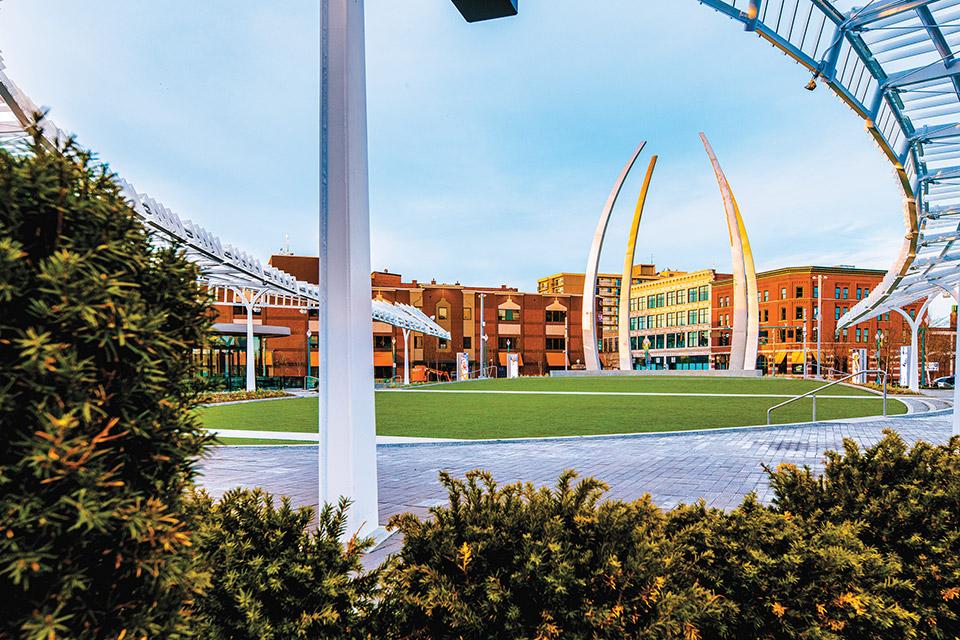Centennial Plaza in downtown Canton (photo by Tyler Church)