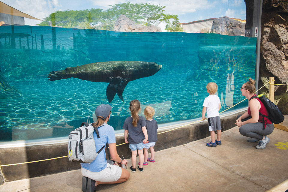 Family at Columbus Zoo and Aquarium (photo by Grahm S. Jones)