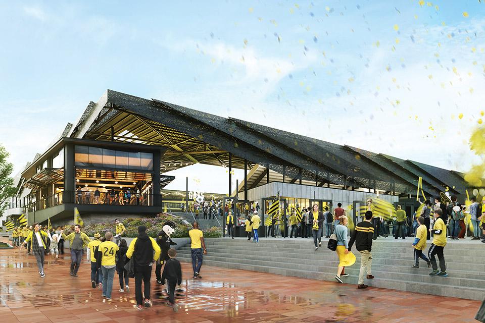 Columbus Crew stadium rendering (courtesy of Experience Columbus)