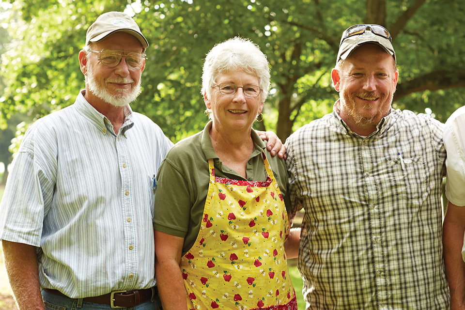 Carriage House Farm owners Dick, Karen and Richard Stewart