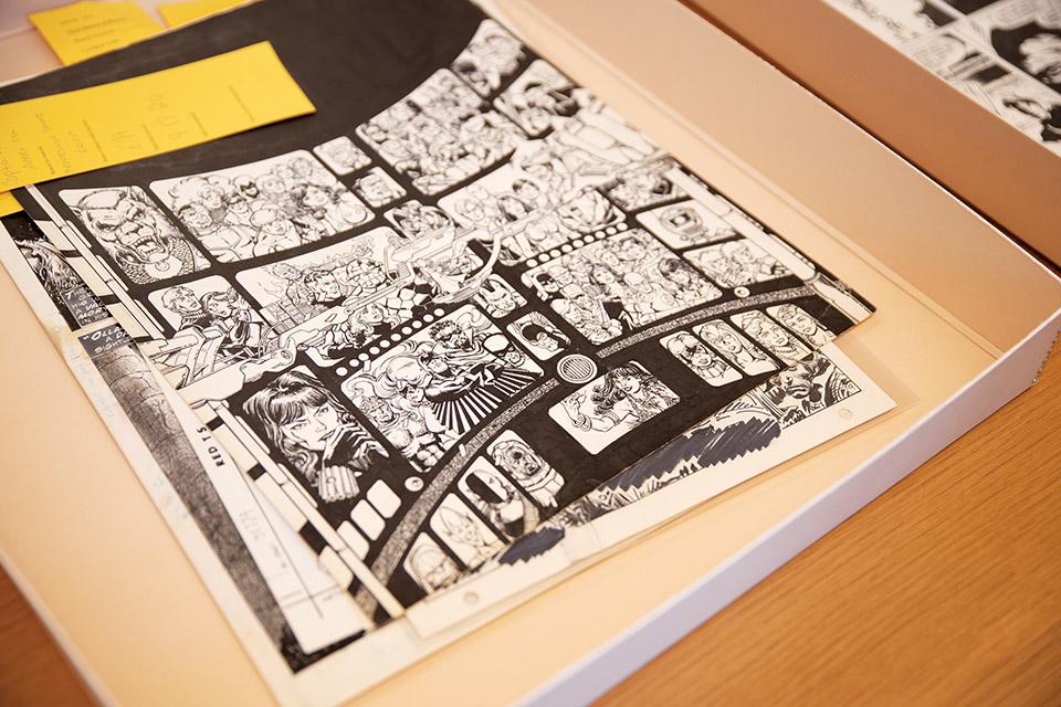 Billy Ireland Cartoon Library & Museum print (photo by Rachael Jirousek)