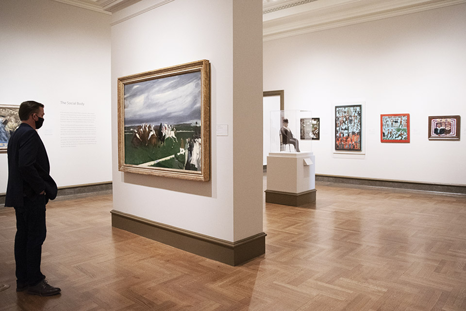 Editor Jim Vickers at the Columbus Museum of Art (photo by Rachael Jirousek)