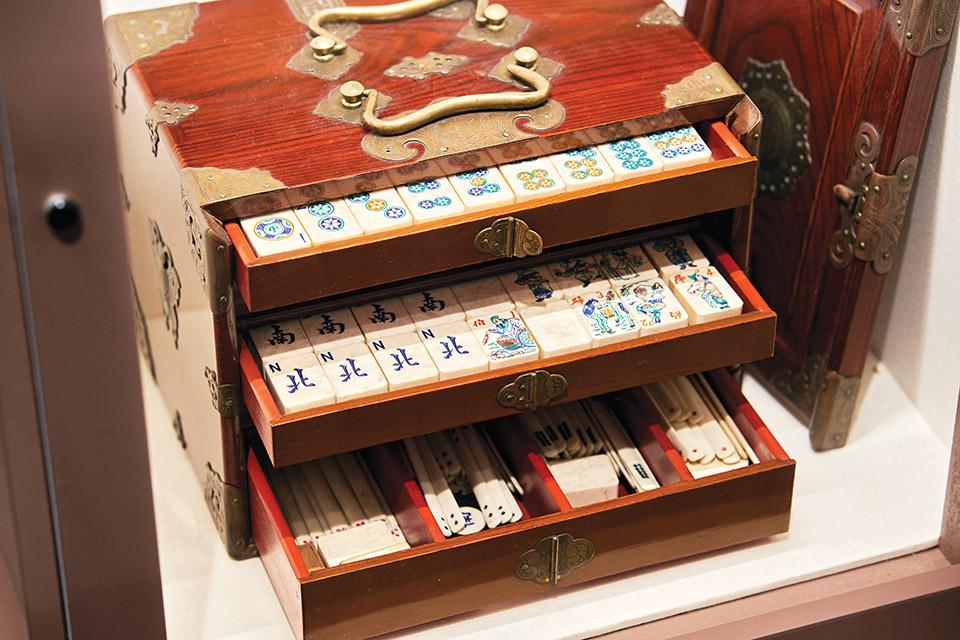 Harding Museum mahjong set