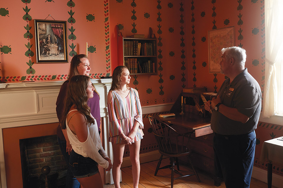 Visitors getting a tour at the John Rankin House (photo by Casey Rearick)
