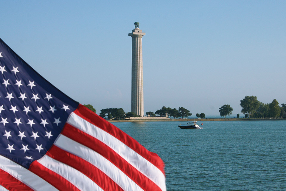 Perry's Victory and International Peace Memorial (photo courtesy of Lake Erie Shores & Islands)