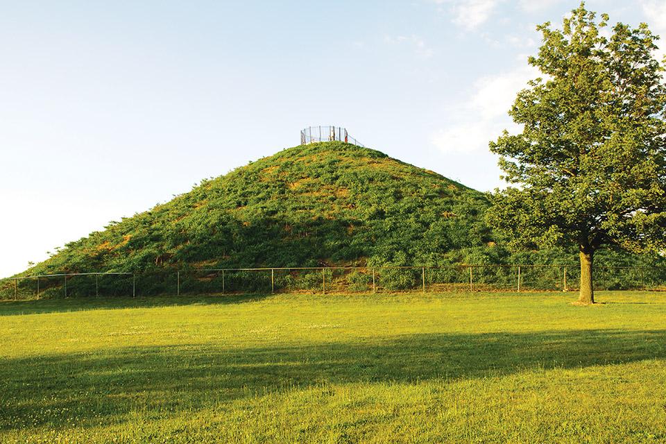 Miamisburg Mound (photo courtesy of Ohio Images)