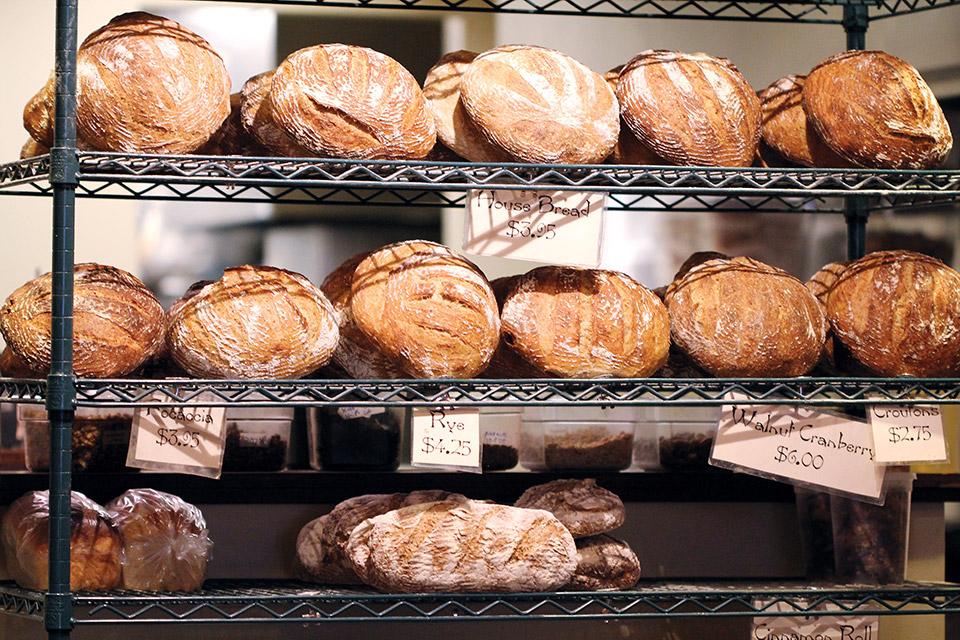 Fresh baked bread (photo courtesy of Broken Rocks Cafe & Bakery)