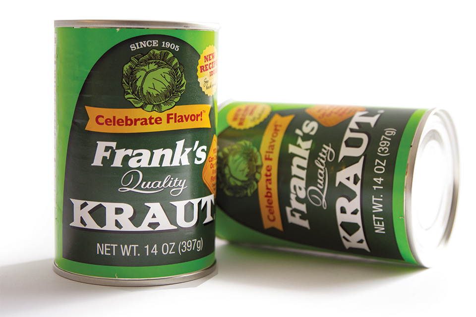 Frank's Kraut can (photo by Rachael Jirousek)