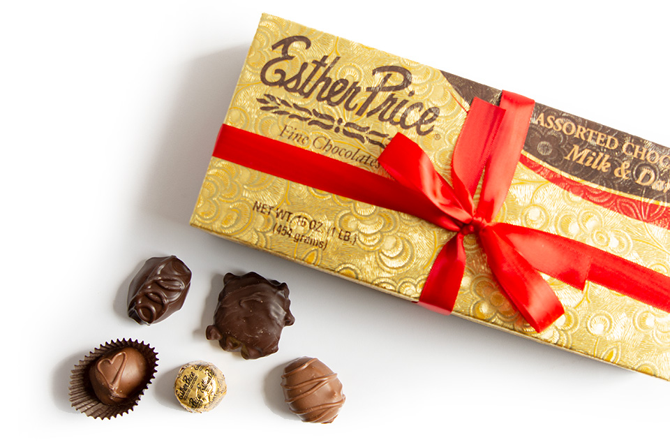 Esther Price chocolates (photo by Rachael Jirousek)