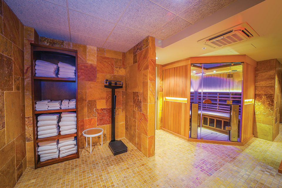 The Grand Spa's infrared sauna at The Grand Resort