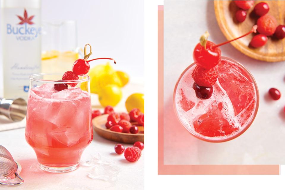 Buckeye Cranberry cocktail (photo by Megann Galehouse, styling by Betty Karslake)