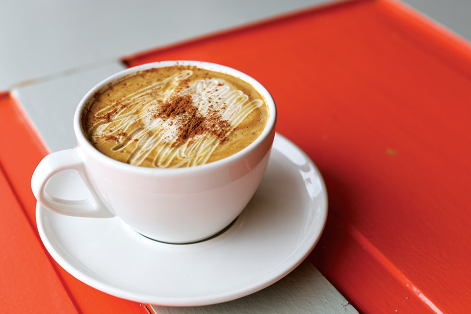 Specialty coffee drink at Village Perks (photo courtesy of Butler County Visitors Bureau)