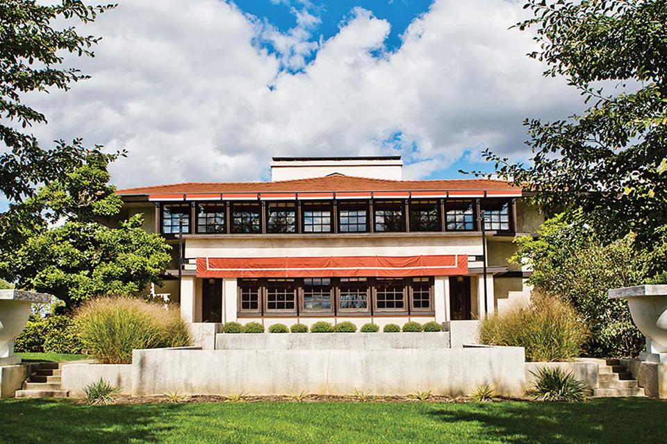 Frank Lloyd Wright's Westcott House (photo courtesy of Cyndie Gerken)