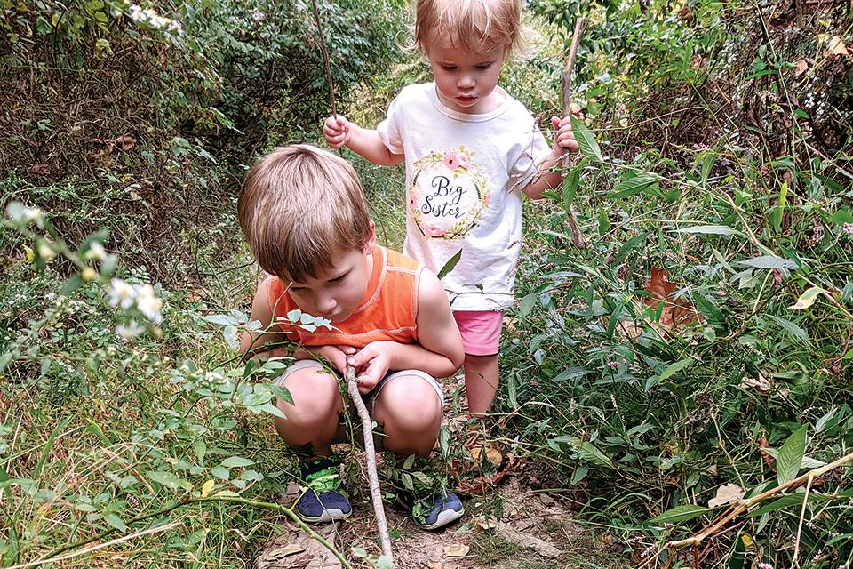 Kids walking in California Woods (photo courtesy of Cincinnati Parks)