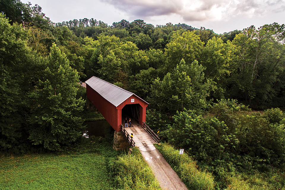 Washington County Hune Covered Bridge (photo by Marietta-Washington County Convention & Visitors Bureau)